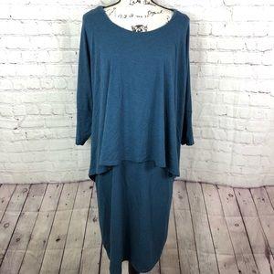 Soft Surroundings Layered Jersey midi dress
